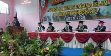 Sekolah Tinggi Agama Islam Rahmaniyah (STAIR), Rabu (9/9/2020), kembali mencetak puluhan sarjana setelah dilakukan proses wisuda kepada 35 orang mahasiswa.