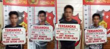 4 Pelaku Pencurian Buah Sawit Milik PT MSA Diringkus Polsek Bayung Lencir
