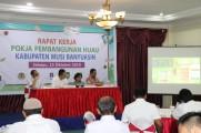 Bertempat di Hotel Ranggonang Sekayu, Selasa (15/10/2019) Wakil Bupati Musi Banyuasin Beni Hernedi membuka secara resmi Rapat Kerja Pokja Pembangunan Hijau Kabupaten Musi Banyuasin.