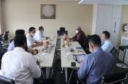Rapat Pembahasan Rencana Kerjasama Pemerintah Kabupaten Musi Banyuasin dengan Bank Sumsel Babel dalam Bidang Ketenagakerjaan di Gedung Bank Sumsel Babel Jakabaring-Palembang, Senin (7/9/2020).