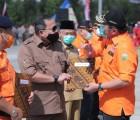 Bupati Muba Dodi Reza Hadiri Apel Kesiapsiagaan Personil dan Peralatan Penanggulangan Karhutbunlah di Ogan Ilir