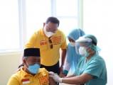 Tahap ke 2 suntik vaksin COVID-19 Sinovac dilakukan di ruang Medical Chek Up (MCU) Rumah Sakit Umum Daerah (RSUD) Sekayu, Kamis (11/2/2021).