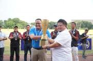 Dodi Reza Alex Noerdin usai menerima piala liga 3, Kamis (31/10/2019) di Stadion Bumi Sriwijaya Palembang.