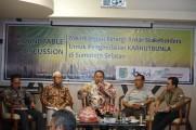 Rountable Discussion Membangun Sinergi Antar Stakeholder Sumatera Selatan untuk Pengendalian Kebakaran Hutan, Kebun, dan Lahan ke depan di Hotel Swarna Dwipa, Kamis (31/10/2019).