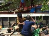 Korban kecelakaan (laka) tunggal speedboat di perbatasan Banyuasin-Palembang.