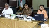 presentasi hilirisasi produk aspal karet dan barang jadi karet dari Pusat Penelitian Karet Bogor, di Auditorium Pemkab Muba, Jumat (21/9/2018).