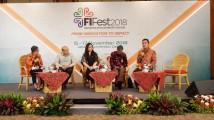Wakil Bupati Muba Beni Hernedi saat menjadi narasumber sesi pleno dengan tajuk Praktik Baik Nasional: Memanfaatkan Kekuatan Filantropi Lokal di Merak Room Jakarta Convention Center, Jumat (16/11/2018).