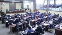 Rapat Paripurna Masa Persidangan I Rapat ke-10, dalam rangka Laporan Hasil Pembahasan Bapemperda Tentang Peraturan DPRD Kabupaten Muba Tentang Perubahan Tata Tertib DPRD Kepada Pimpinan DPRD.