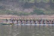 Lomba perahu Bidar, di Sungai Musi, Lingkungan I Kelurahan Kayuara Kecamatan Sekayu, Minggu (27/10/2019).