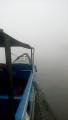 Jarak Pandang Hanya 10 Meter, Omset Pengemudi Speed Boat Menurun, karena penumpang hanya sedikit.