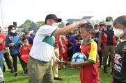 Herman Deru membuka secara langsung gelaran Festival Sepakbola U-12 Sriwijaya FC, Champion League 2021 se Sumsel