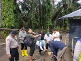 Dinas Lingkungan Hidup Pemkab Muba, Pemerintah Kecamatan, Polri, TNI, dan BKSDA memastikan jika jejak kaki tersebut ternyata kucing hutan.