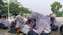Siswa-siswi SMA N 1 Bayung Lencir.