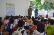 TK dan SD Palm Kids Saat berkunjung ke Dishub Muba