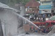 Kebakaran di Pasar Sungai Lilin, 3 Bangunan ludes Terbakar
