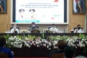 Herman Deru, ketika Perkenalan Pengurus PT SOM di Auditorium Bina Praja Setda Provinsi Sumsel, Jum'at (26/3)