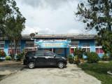 Gedung SMP N 1 Bayung Lencir yang berada dipaling depan sebelum dilakukan perbaikan.