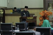 Rapat Paripurna Masa Persidangan I Rapat ke-8, di Gedung DPRD Muba, Selasa (3/12/2019).