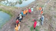 Kadaops Sumatera-XV dan tim saat berkunjung ke tambak perikanan MPA Wonorejo.