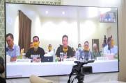 Virtual meeting antara jajaran manajemen MBU bersama MCF dan turut dihadiri pembina MCF yakni Wakil Bupati Muba Beni Hernedi dan Bupati Muba DR Dodi Reza Alex, Sabtu (6/6) sore.