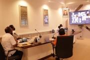 Webinar Virtual tentang Peningkatan Disiplin Aparatur Sipil Negara (ASN) dan Non-ASN dalam Protokol Kesehatan Kebiasaan Baru COVID-19. Selasa (8/9/2020) Di Ruang Rapat Sekda.