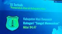 Capaian prestasi membanggakan kembali ditorehkan Pemerintah Kabupaten Musi Banyuasin.