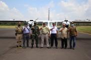 Uji Coba Take Off dan Landing di Bandara Sekayu