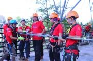 Penuh Semangat, Tim Rescue FPTI Sumsel Latih Keahlian Vertical Rescue di Stabel Berkuda