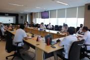 Rapat Pembahasan Rencana Kerjasama Pemerintah Kabupaten Musi Banyuasin dengan Perusahaan Kontraktor Kontrak Kerja Sama Migas (KKKS) dalam Wilayah Musi Banyuasin dalam  BidangKetenagakerjaan, Senin (7/9/2020).
