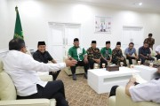 Pererat Silaturahmi Pimpinan Wilayah Ansor Sumsel Sowan ke Bupati Muba