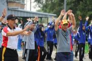 Peringati Hari Oeang ke-73 Pemkab Muba Gelar Senam Massal