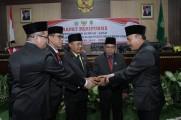 Pimpinan DPRD Muba Periode 2019-2024 Diambil Sumpah dan Janji Jabatan
