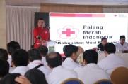 PMI Hingga Kecamatan dan Desa, Beni Tutup Musyawarah Kerja PMI Muba