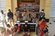 Polres Muba Ungkap Kasus Perampokan dan Pembobolan Dealer Motor Serta Pencurian Buah Sawit Di Bayung Lencir