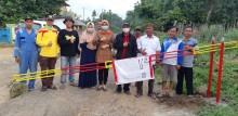 Portal Sudah Dipasang, Masuk Desa Teluk Kijing 1 dan 2 Wajib Diperiksa Oleh Pihak Puskesmas
