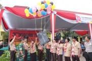 Pelepasan balon sebagai tanda dimulainya 3rd Mascom