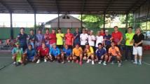 Tim Tenis Persatuan Lawn Tenis Indonesia (Pelti) Kabupaten Musi Banyuasin (Muba) yang dipimpin langsung oleh dr Azmi Dariusmansyah, kedatangan Klub Tenis Griya Palembang yang dipimpin oleh Uzer Effendi, Jum'at (13/3/2020).