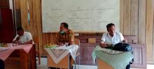 Rapat Pembelajaran Tatap Muka SMP 4 Sungai Keruh, Kades Sindang Marga : Selalu Patuhi Protokes