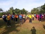 Olahraga bersama, dihalaman Polsek Batanghari Leko pada jumat (11/01/19)