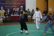 Ratusan pesilat atau atlet pencak silat yang ada di Kabupaten Musi Banyuasin, Sumsel memperebutkan gelar juara dalam Kejuaraan Pencak Silat Bupati Cup II tahun 2021 di SMK Negeri 3 Sekayu, Jumat (19/3).