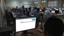Salah satu sekolah yang menggelar simulasi UNBK yakni SMP N 6 Sekayu.