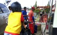 Foto : Stasiun Pengisian Bahan Bakar Umum (SPBU) yang beroprasi di Kelurahan Serasan Jaya Kecamatan Sekayu,