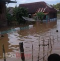 Sungai Biduk Meluap, Dawas Terendam Banjir