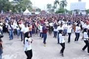 1.500 peserta yang didominasi generasi millenial yang turut hadir memeriahkan rangkaian acara MRSF, dengan memberikan hiburan berupa Tarian Mantang Para, dan dinobatkan oleh Museum Rekor Indonesia (Muri) menjadi peserta terbanyak rangkaian MRSF 2019 yang