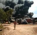 Tempat Penyulingan Minyak Dikelurahan Babat Terbakar