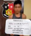 Terciduk Bawa Senjata Tajam, Indra Kesuma Alias IN Diamankan Polsek Lais