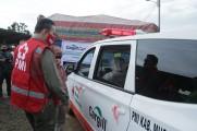 Wakil Bupati Musi Banyuasin Beni Hernedi selaku Ketua Palang Merah Indonesia Kabupaten Muba menerima bantuan terkait pencegahan dan penanganan Virus Corona (Covid-19) dari PT Hindoli, di Kantor PT Hindoli Kecamatan Sungai Lilin, Jumat (8/5/2020).