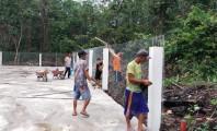 Sarana olahraga di Desa Teluk Kijing 2 Kecamatan Lais yang dibangun dengan menggunakan Dana Desa dan Dana ADDK 2020