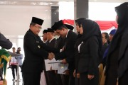 Bupati Musi Banyuasin H Dodi Reza Alex Noerdin melantik 213 orang pejabat dilingkungan Kabupaten Muba.