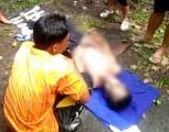 Diketahui mayat laki laki ini bernama Krisnadinata Alias Punto (14) merupakan warga Village 5 Taja Indah Kecamatan Betung Banyuasin.
